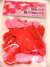 Valentines Heart Shaped Balloons Red Pink 24 Pack Love Party Wedding Birthday
