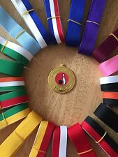 10x Bowling Medals 50mm Choice of ribbons  Great value!! Bulk Buy Great Quality