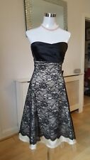 Warehouse Spotlight Black Cream Lace Ball Prom Wedding Occasions Dress Size 8