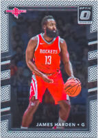 James Harden 2017-18 Donruss Optic Basketball Chrome Card #51 Houston Rockets