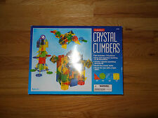 Preowned Crystal Climbers 165 Piece Building Toy Plastic shapes Partial Set
