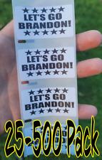 """Lets Go Brandon"" 25-500 Pack stickers anti decals Impeach go joe biden let's"