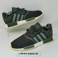 729bd7c0fe3b0 Adidas Originals NMD R1 (Men s Size 10) Running Sneaker Shoes Night Cargo  Green