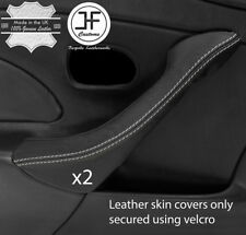 GREY STITCH 2X DOOR HANDLE LEATHER COVER FITS MAZDA MX5 MK2 2.5 MIATA 01-05