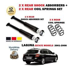 FOR RENAULT LAGUNA ESTATE 2001-2008 2 X REAR SHOCK ABSORBER + 2 X COIL SPRINGS