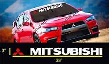 Front Windshield Decal Vinyl Car Stickers for MITSUBISHI MOTORS Auto Window Acce