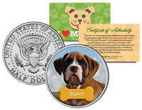 "BOXER U.S JFK KENNEDY HALF DOLLAR ""The Dogs"" COIN"