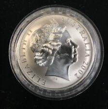 AUSTRALIA 2002 KANGAROO 1 OZ SILVER ONE DOLLAR, LOW MINTAGE COIN