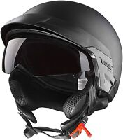 Cartman Motorcycle Open Face Helmet with Sun Visor Quick Release, DOT 816 Large