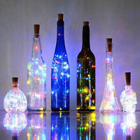 Solar Powered Bottle Cork Shaped String Light 10LED Night Fairy Light Lamp Party