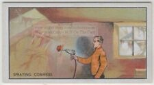 Making Spider Cobwebs On Movie Set  Motion Picture Film 80+ Y/O Ad Trade Card