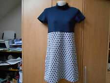 Pedro del Hierro Blue/White Short Sleeve Dress With Embroidered 'Skirt' - UK8