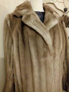 Vintage Astraka brown faux fur jacket coat - Size Large 16