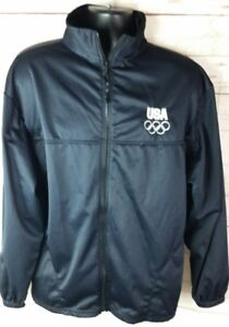 United States Team USA Olympic Committee XL Warmup Jacket Zipper Front Track