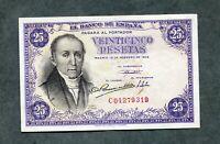 BILLETE 25  PESETAS 1946 SERIE C04279319  EBC +
