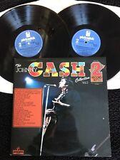 The Johnny Cash Collection Vol 2 (Blue Train Goodnight Irene) 2 x Vinyl LP (1977