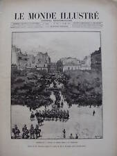 LE MONDE ILLUSTRE 1893 N 1886 GENERAL DOOD A MARSEILLE