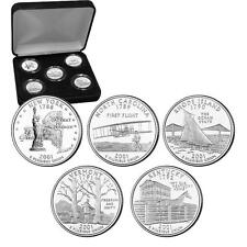 2001 Uncirculated US Mint State Quarters Set in Gift Box - BU Statehood Quarters