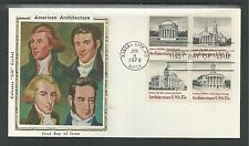 "# 1779-1782 AMERICAN ARCHITECTURE, Colorano ""Silk"" Cachet, 1979 First Day Cover"