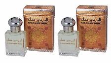 2 HARAMAIN MUSK 15ML WHITE MUSK AND SANDALWOOD PERFUME OIL/ATTAR BY AL HARAMAIN