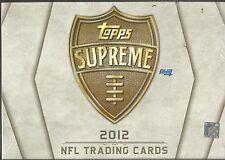2012 Topps Supreme Football Factory Sealed Hobby Box