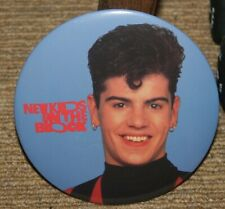 "NEW KIDS ON THE BLOCK VINTAGE 6"" BUTTON ""JORDAN"" BLUE BACKGROUND NOS"