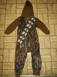 Star Wars Chewbacca Pajamas w/ Hood. Size Boy's XS