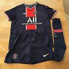 Nike Paris Saint-Germain FC 2020-21 Kids Football Home Kit Size 4-5 Years, Blue