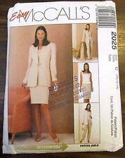 McCall's Sewing pattern no. 2025 Ladies suit & pants size 10-12