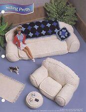 Sitting Pretty, Annie's Fashion Doll Furniture Crochet Pattern Leaflet FC23-01