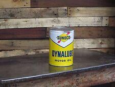 1960 Sunoco Dynalube 5 quart oil can Super color