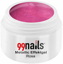 Metallic Effektgel Rosa Farbgel Pink UV Nagel Gel Effektfarbe Metallic Nails