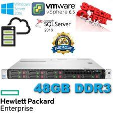 HP ProLiant-DL360e Gen8 2x E5-2403 8-Core Xeon 48GB DDR3-2x80GB SSD Disk-B120i