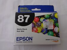 T087820 Epson R1900 NO 87 Matte Black Photo Ink--Expired