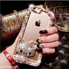 Bling Diamonds Cell Phone Frame Case Cover for iPhone 6 6s 7 Plus Crystal Pearls
