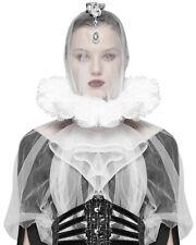 Punk Rave Gothic Elizabethan Lace Collar Neck Ruff White Renaissance Victorian