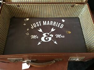 Vintage Suitcase Wedding Favours/Photo Storage/Up-cycle/Shop Display. 'G'