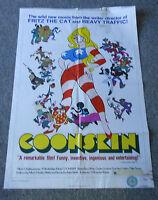 1975 COONSKIN movie poster ~ 27 x 40 ~ Ralph Bakshi