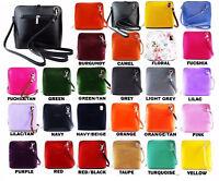 Ladies Womens VERA PELLE Real Leather Italian Small Shoulder Cross Body Handbag