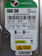 500 GB Mediamax WL500GSA6472B / 2060-771829-003 REV P1 hard disk - refurbished