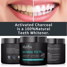 Mabox 100% Pure Charcoal Activated Teeth Whitening - Brighten your smile
