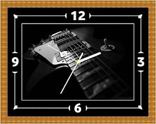 Electric Guitar Wall Clock Gift Present Christmas Birthday (Can Be Personalised)