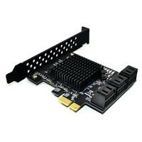 Tampon SATA 3.0 Card Support 6 SATA 3.0 Devices Adapter Converter for Desktop!
