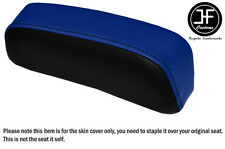 ROYAL BLUE BLACK VINYL CUSTOM FOR SUZUKI GSXR 750 F SLABSIDE PAD SEAT COVER ONLY