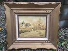 French+artist+Louis+Peyrat+1911-1999+impressionist+landscape+painting+No+Reserve