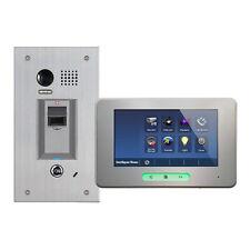 Fingerprint Steel Doorbell with Alecto Monitor Video Door Entry Kit 2-wire sers