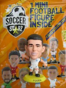 Phil Foden Manchester City SoccerStarZ 2022 Yellow Base Foil Bag MicroStars
