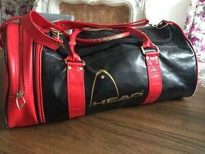 Retro HEAD Original Monte Carlo Zip Off Side Bag Holdall GYM Sports Navy Red