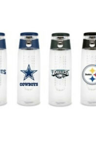 NFL 20oz Plastic Infuser Sports Bottle Clear Oakland Raiders