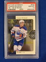 CONNOR MCDAVID PSA 10 2015 SP AUTHENTIC 1995-96 RETRO ROOKIE CARD!!